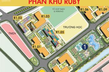 Duy nhất căn 3 PN đẳng cấp, 108,8m2 view bể bơi và sông DA Vinhomes Ocean Park, PKD 0901 663 998