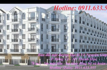 Bán đất đường Võ Nguyên Giáp đối diện khách sạn Mường Thanh P. Đông Vệ, TP Thanh Hóa