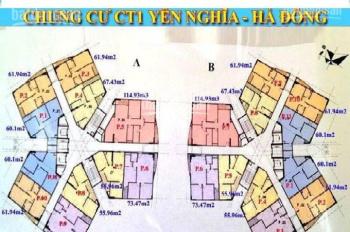Cần tiền nên bán CHCC CT1 Yên Nghĩa, căn 1505 tòa CT1A - 3pn - 115m2, giá 11.5tr/m2, lh: 0974547377