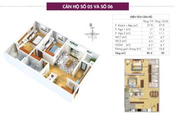Cần bán căn 2PN tầng 10 - D1.05 và D1.06 chung cư cao cấp 6th Element Tây Hồ Tây, 3.360 tỷ