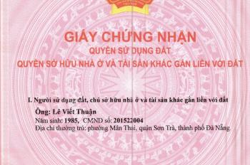 Chính chủ bán đất khu Trương Định, phường Mân Thái, Sơn Trà, Đà Nẵng. Liên  hệ: 0981870666
