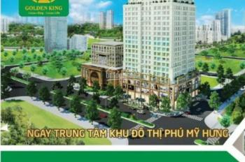 Bán căn Officetel thuộc tòa nhà Golden King, đã hoàn thiện, ngay trung tâm Phú Mỹ Hưng, Quận 7