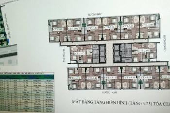 0962 899 842 bán gấp căn 1614, CC CBCS Công An, 43 Phạm Văn Đồng, DT 69,8m2, giá: 1.72 tỷ/căn
