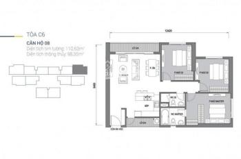 Bán căn hộ 08 toà C6 Vinhomes D'Capitale, căn 3 phòng ngủ 110m2, giá 4,8 tỷ. LH: 0976392902