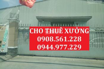 Cho thuê nhà xưởng DT: 1000m2 giá 55 triệu/tháng, đường Nguyễn Thị Tú, Vĩnh Lộc A, Bình Chánh
