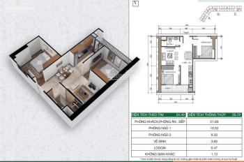 Bán căn hộ 2 phòng ngủ chung cư Xuân Mai Dương Nội Hà Đông giá 970tr. LH 0977298646