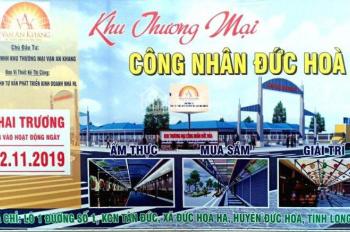 Dạng đầu tư BĐS mới, ki ốt chợ đêm KCN Tân Đức, Đức Hòa, Long An