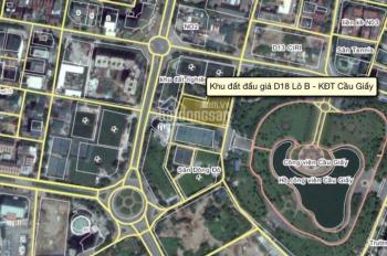 Bán đất tại khu đô thị Cầu Giấy, Trần Thái Tông - Dịch Vọng D4, D5 D6, D7, D13, D18 - Cầu Giấy