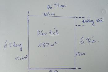 Bán lô đất đẹp thôn My Điền 1 - DT 180m2 đất vuông, có thể chia 2 lô hoặc xây nhà trọ 25-30 phòng