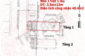 Trí BĐS, nhà 40.4m2, đường Phùng Tá Chu, P. An Lạc A, ngay cổng trường học tiện kinh doanh mua bán