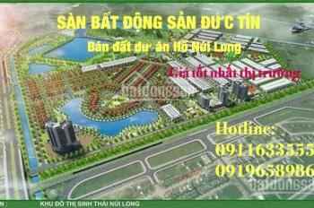 Bán các lô đất khu đô thị sinh thái Hồ Núi Long - Thanh Hóa, đầy đủ các hướng