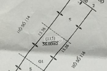 Bán đất tại khu tập thể - Xã Đình Xuyên - Huyện Gia Lâm - TP Hà Nội, diện tích: 56m2, rộng: 3,6m
