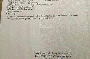 Chính chủ Bán lô góc 2 mặt tiền đường Long Phước giá ngộp 4.8 tỷ LH 0919823007
