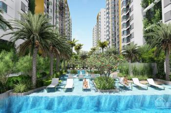 Cho thuê CHCC Him Lam Phú An, 70m2, 2PN, 2WC, nội thất cao cấp, giá 10 triệu/tháng, view hồ bơi