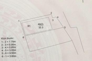 Bán lô đất đẹp 32m2 đã có GPXD ô tô đỗ cửa 25 Ngọc Lâm, giá 2,3 tỷ. LH: 0988211190
