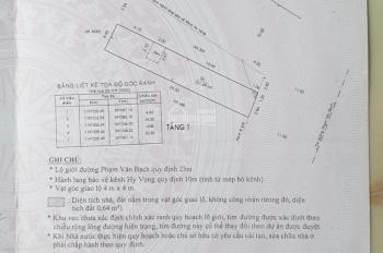 Cần bán gấp nhà cấp 4, mặt tiền Phạm Văn Bạch, P15, quận Tân Bình, DT 100,9m2, giá 13tỷ1