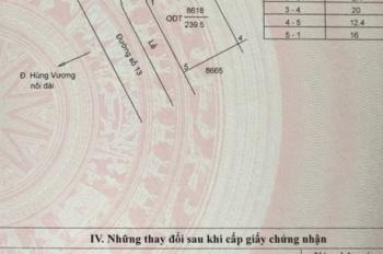 12mx20m lô góc đẹp TT hành chính Tân An, giá mềm nhất so với thị trường, LH gấp  0919 207 357