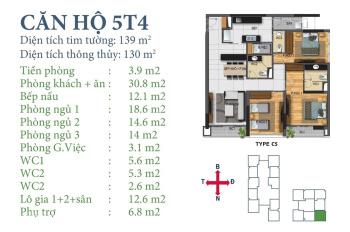 Bán căn 05 tòa T4 tầng trung Horizon Tower Ngoại Giao Đoàn, LH chính chủ 0988 908 790