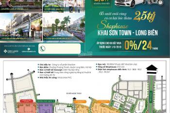 Bán shophouse Khai Sơn chỉ 2,7 tỷ nhận nhà ngay, CK lợi nhuận 150%, LS 0% trong 24T