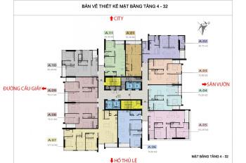 Chủ nhà bán gấp lại căn 1806 dự án 110 Cầu Giấy. DT: 78m2, BC ĐN, giá rẻ: 36tr/m2, LH 0971864816