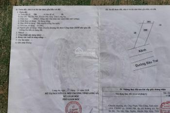 Bán đất mặt tiền đường 830 DT 12x60m giá 280 triệu mét ngang (Xã Tân Phú - Đức Hòa - Long An)