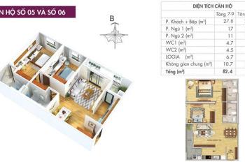Chính chủ cần bán căn 2PN dự án 6th Element Tây Hồ - 83m2 - 3,3 tỷ - Full nội thất. LH: 0962986867