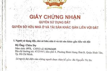 Bán nhà KDC Vĩnh Lộc, P. Bình Hưng Hòa B, Bình Tân, 5x19m, cấp 4, giá từ 5,5 tỷ. Tel 0908687704