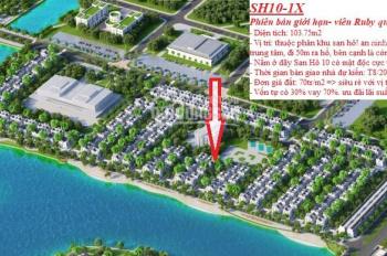 Bán gấp biệt thự song lập dự án Vinhomes Ocean Park tổng diện tích xây dựng 176.5m2 giá 9.1 tỷ (BP)