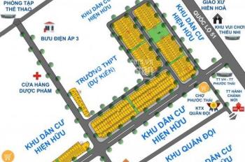 Bán gấp lô 100m2, đối diện công viên, KDC song phương, ngay TTHC xã Phước Thái, LH 0938.439.775