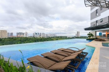 Cho thuê gấp căn 2 phòng ngủ, 76m2, căn hộ The Sun Avenue, full nội thất, view sông Sài Gòn