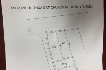 Bán đất mặt tiền, diện tích 73.5m2 tại tổ 15 Thạch Bàn, quận Long Biên