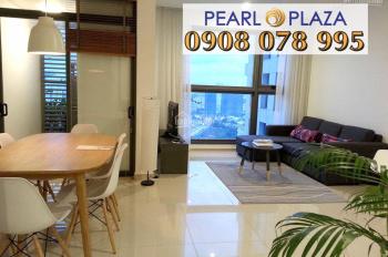 Cho thuê căn hộ 2PN 97m2 Pearl Plaza, tầng cao, full nội thất. Hotline PKD SSG 0908 078 995