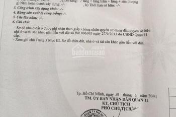 Chính chủ bán tòa nhà mặt tiền 624 Nguyễn Chí Thanh, Quận 11 (8x20m) hầm 8 lầu, HĐ 270tr/th 82 Tỷ.