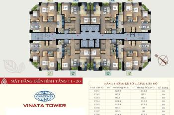 8 căn ngoại giao giá tốt nhất CC Vinata Tower nhận nhà ở ngay, rẻ hơn tới 300tr so với thị trường
