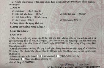 Nhà mặt tiền 23m Phạm Văn Bạch, P15, Tân Bình, 5x26m