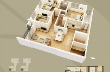 Bán rẻ căn góc 130m2 Mandarin Garden 2 Tân Mai, 3.7 tỷ