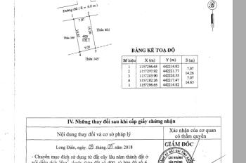 Bán đất khu dân cư Hương Lộ 14 - Huyện Long Điền