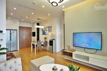 Cho thuê căn 2 phòng ngủ, 68m2, tầng 18, có đủ nội thất ở Vinhomes Green Bay, 13tr/th, 0932438182