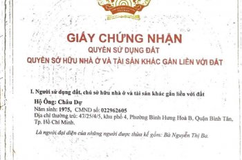 Bán đất KDC Vĩnh Lộc, sau lưng dê tươi Vĩnh Lộc 6x16m giá 5,9 tỷ. Tel 0982 133 244