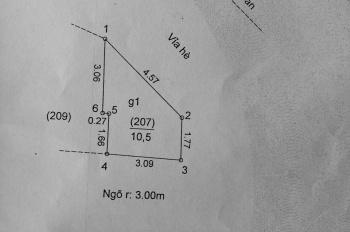Chính chủ bán nhà mặt phố Trần Quốc Hoàn, 15m2, mặt tiền 7m. Giá 4,7 tỷ, 0844499799