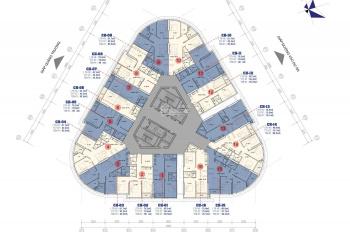 Bán chung cư VC2 Golden Heart - tòa B Kim Văn Kim Lũ căn 16, diện tích 75.5m2. Giá 24 tr/m2