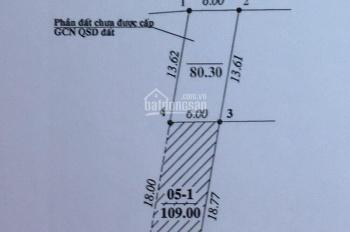 Cần bán 109m2 đất thổ cư mặt đê thôn Ngọc Giang, xã Vĩnh Ngọc, biếu thêm 80m2 lưu không