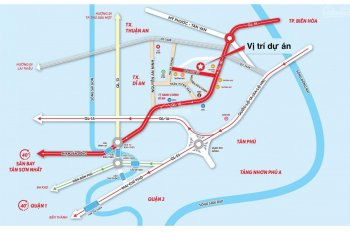 Mở bán giai đoạn 1, 28 căn nhà phố sân vườn, cách sân bay Tân Sơn Nhất 30 phút, chỉ 3,2 tỷ/căn.