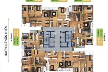 Bán căn hộ Bohemia Lê Văn Thiêm tầng 12, BC Đông Bắc - Đông Nam 85.5m2, ở luôn. LH 0942.90.5151