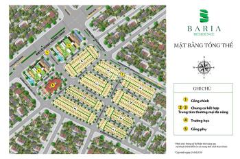 Cơ hội đầu tư cuối năm dự án Baria Residence. TTTP Bà Rịa, MT đường Hùng Vương 42m