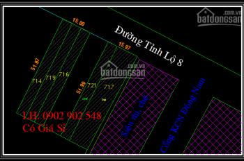 Bán quán cafe 800m2 - 3 sổ riêng mặt tiền Tỉnh Lộ 8, cổng KCN Đông Nam, 15 tỷ