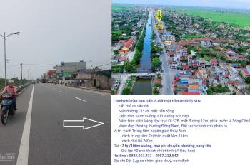 Chính chủ cần bán gấp lô đất mặt tiền Quốc lộ 37B Huyện Giao Thủy, tỉnh Nam Định