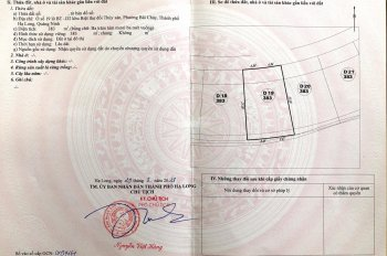 Gia đình cần bán đất trung tâm Hạ Long hoà vốn để đi định cư Bồ Đào Nha, LH 0948516993