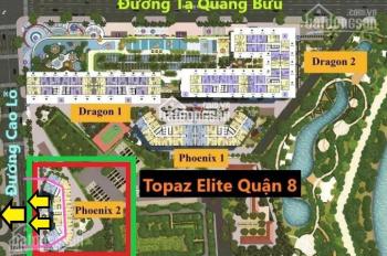 Dự án topaz elite căn hộ Q8 bán gấp DT 90.61m2 chênh 280tr bao sang tên giá 2tỷ495. LH 0901584485