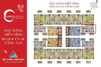 CC bán căn hộ cc 2PN, view hồ CT1A - 2109 (52m2)tại Hateco Xuân Phương chỉ 1.4 tỷ. 0919130482